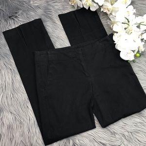 Theory Black Split Ankle Skinny Pants Trousers 2